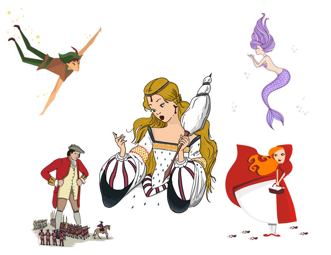 Collage de cuentos