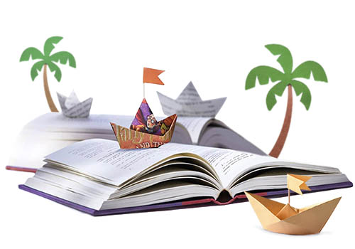 Navegar sobre un libro