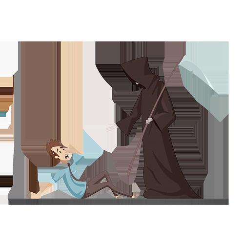 La muerte y el desdichado