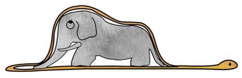 Boa y elefante