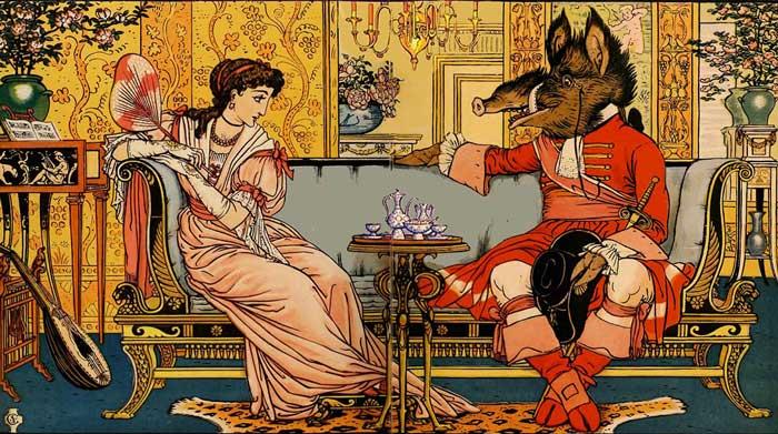 La bella y la bestia a la mesa